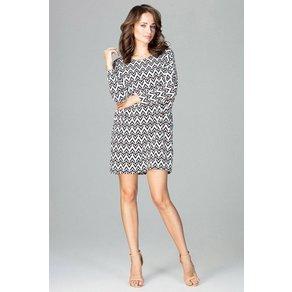LENITIF Kleid mit extravaganter Musterung