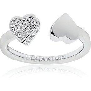 Sif Jakobs Jewellery Silber-Ring mit verziertem Herz AMORE DUE
