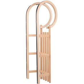 COLINT Hornschlitten Hörner 110 mit Holz Kunststofflehne und Leine Set