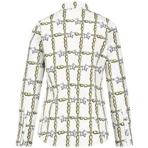 Gerry Weber GERRY WEBER Bluse 1 1 Arm Langarmbluse mit Kettendruck