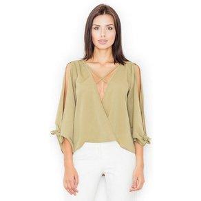 FIGL Bluse mit raffiniertem Ausschnitt