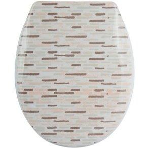 MSV WC-Sitz BRIQUE BEIGE Duroplast mit Softclose