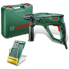 Bosch Bohrhammer PBH 2100 RE inkl 6-tlg Bohrer-Set