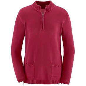 Casual Looks Pullover im weichen Materialmix