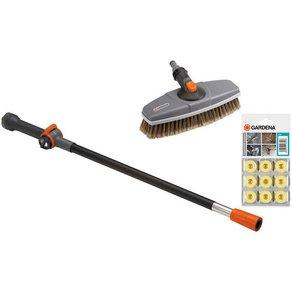 Gardena Autowasch-Set 05580-20 inkl Bürste Wasserstiel und Shampoo