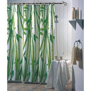 MSV Duschvorhang Bambus Breite 180 cm