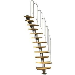 Dolle Systemtreppe Berlin Metallgeländer und -handlauf Birke BxH 64x270 cm