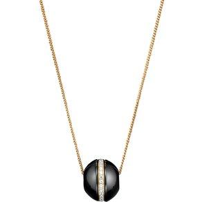 Jacques Lemans Anhänger mit Kette 925 Sterling Silber Keramik schwarz