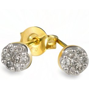 Goldmaid Paar Ohrstecker 585 Gelbgold 14 Brill 026 ct