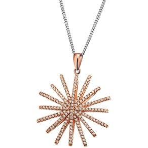 Goldmaid Collier Star 925 Sterlingsilber 163 Zirkonia