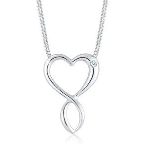 Diamore Collierkettchen Herz Infinity Diamant 003 ct 925 Silber