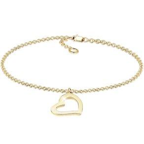 Elli Armband Herz Heart Verliebt Liebe Elegant 375 Gelbgold