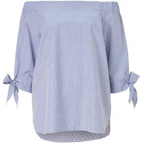 Conleys Blue Carmenbluse mit breitem Gummizug an der Schulter