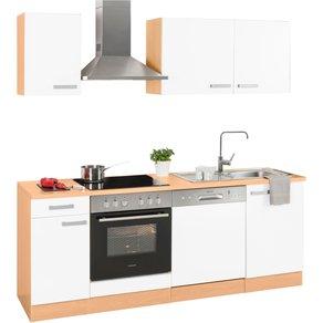 Optifit Küchenzeile Odense Breite 210 cm inklusive Hanseatic-Elektrogeräten