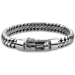 Kuzzoi Armband Herrenschmuck Panzerarmband Rund Basic 925 Silber