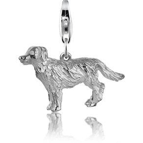 Nenalina Charm-Einhänger Hund Dog Anhänger Golden Retriever 925 Silber