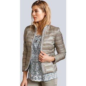 Alba Moda Jacke mit Schmuckbesatz an der vorderen Blende und Tascheneingri