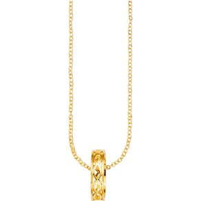 Caï CAÏ Anhänger mit Kette 925 Sterling Silber vergoldet