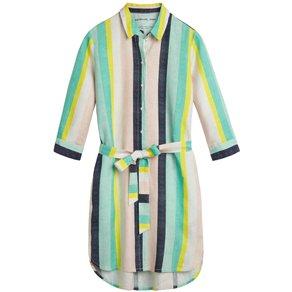 Sandwich Mehrfarbig gestreiftes Kleid mit Gürtel