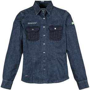 Brands Workwear BRANDS Jeansbluse Damen GOTS