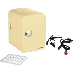 Gourmetmaxx Elektrische Kühlbox Mini-Kühlschrank Retro 45W vanille 4 Liter