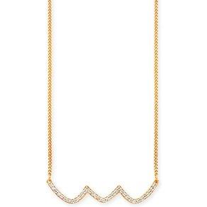 Caï CAÏ Collier 925 Sterling Silber vergoldet Topas Wellen