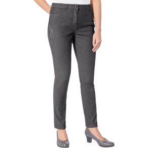 Classic Inspirationen Jeans mit dekorativer Feder-Applikation