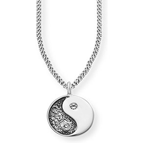 Caï CAÏ Anhänger mit Kette 925 Sterling Silber rhodiniert Zirkonia