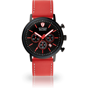 Detomaso Chronograph MILANO XL BLACK RED