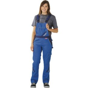 PLANAM Latzhose Highline Damen kornblau marine zink 48