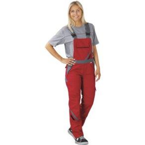 PLANAM Latzhose Highline Damen rot schiefer 36
