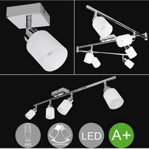 Wohnling 4-flammiger LED-Strahler Warmweiss EEK A inkl 4x3 Watt Leuchtmittel Drehbare Deckenlampe IP20 Fassung G9 LED Diele Flur Deckenleuchte Spots Wohnzimmer Schlafzimmer Kinderzimmer