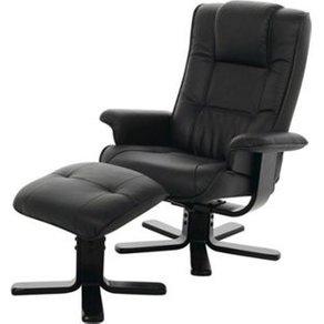 PKline Funktionssessel mit Hocker schwarz Relaxsessel Wohnzimmer Sessel