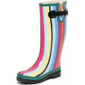 Zapato Europe Damen Regenstiefel Gr 36 Rainbow Gummistiefel bunt Streifen Stiefel Outdoor