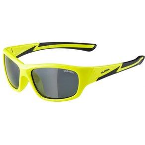 Alpina Flexxy Youth Ceramic Black S3 Sonnenbrille gelb grau