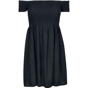 Urban Classics Ladies Smoked Off Shoulder Dress Kurzes Kleid schwarz