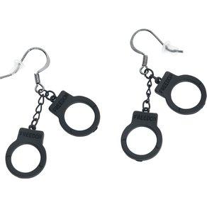 etNox Handschellen Ohrhänger schwarz