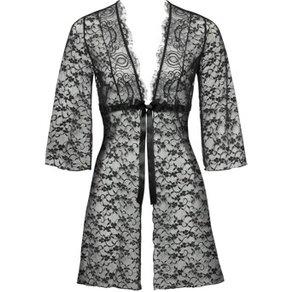 Orion Kimono aus Spitze mit Satinschleife zum Binden