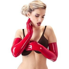 Orion Handschuhe aus leicht transparentem Latex, lang