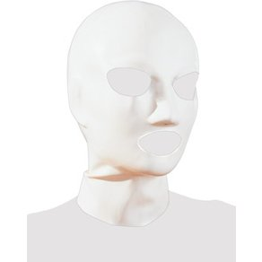 Orion Kopfmaske aus Latex, mit Atemlöchern, weiß