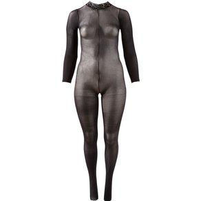 Mandy Mystery lingerie Catsuit mit Spitzenkragen