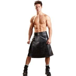 Svenjoyment Rock aus Lederimitat für Herren, in Wickeloptik mit aufgesetzter Tasche