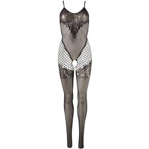 Mandy Mystery lingerie Catsuit, ouvert, in Spitzen-Optik