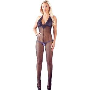 Mandy Mystery lingerie Catsuit ouvert aus grobem Netz