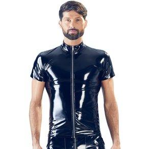 BLACK LEVEL Shirt aus glänzendem Lack