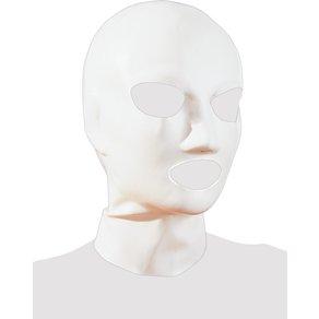 Late X Kopfmaske aus Latex, mit Atemlöchern, weiß
