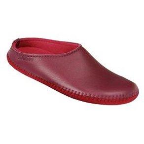 Haflinger Elchleder-Damen-Pantoffeln Gr 37 bordeaux
