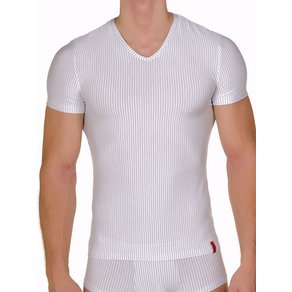 Bruno Banani Straight Line V-Shirt weiss schwarz L