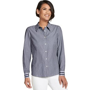 Collection L Damen Bluse blau Gr 54
