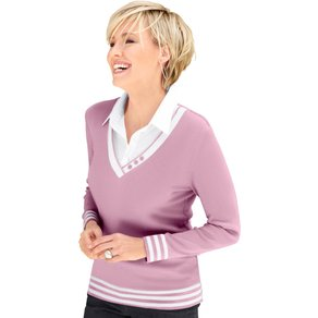 Collection L Damen 2-in-1-Pullover rosa Gr 36